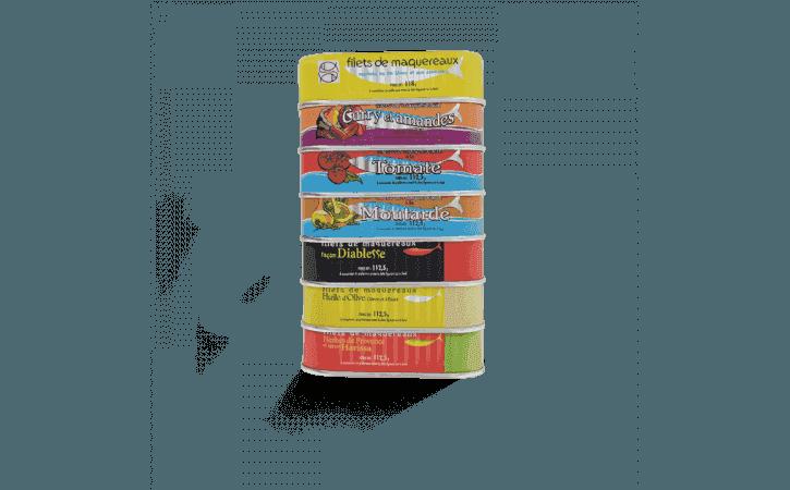 Assortiment de 7 filets de maquereaux - Conserverie la belle-iloise