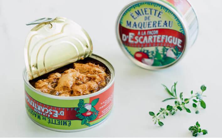 Escartefigue-style flaked mackerel - 5 tins of 80g ea. - La Belle Iloise