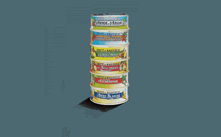Assortiment de 6 émiettés de maquereau 1/10 - Conserverie la belle-iloise