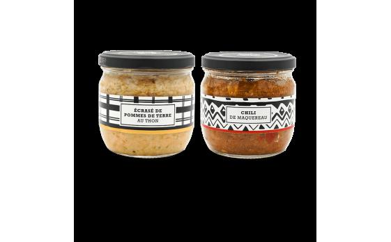 Assortment of 2 recipes - 2 jars of 300g ea.