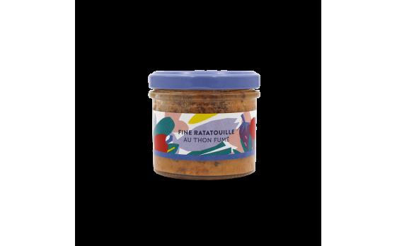 Fine ratatouille with smoked tuna - 2 jars of 105g ea.