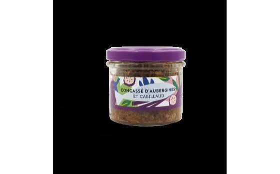 Diced aubergine and cod caviar - 2 jars of 105g ea.