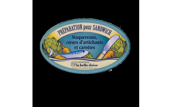 Mackerel, artichoke heart and andouille sausage sandwich filling -...