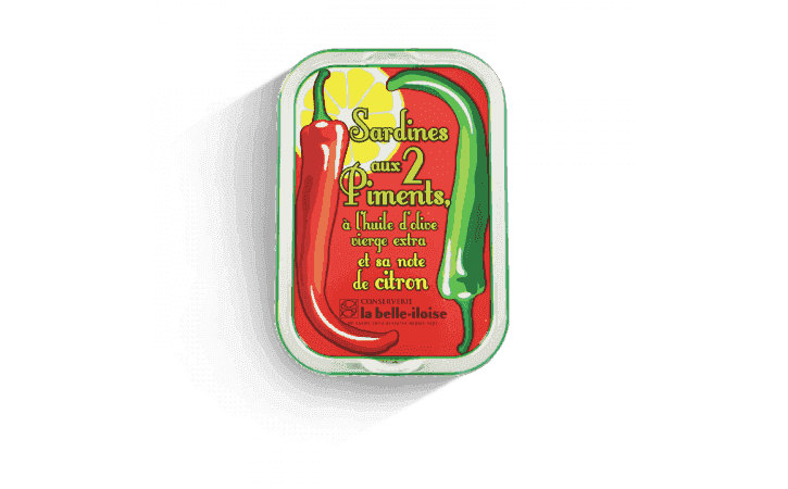 Sardines aux deux piments et sa note de citron - Conserverie la belle-iloise