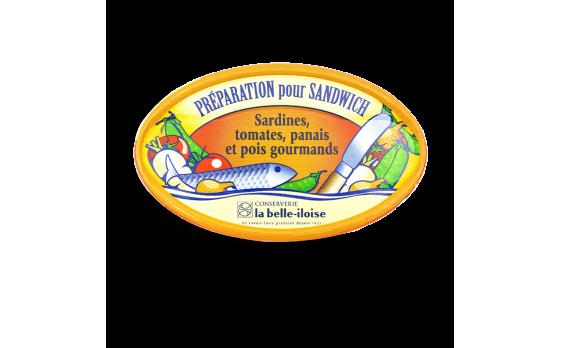 Sardine, tomato, parsnip and sugar-snap pea sandwich filling - 3...
