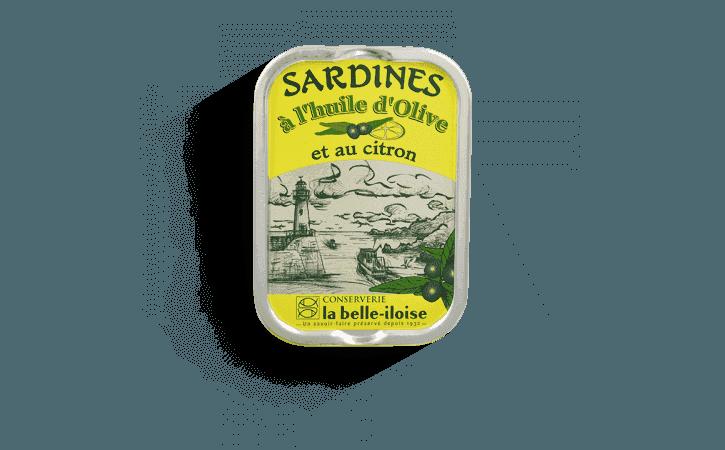 Sardines à l'huile d'olive et au citron - Conserverie la belle-iloise