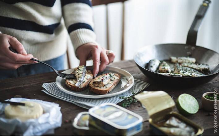 Sardines cuisinées à déguster chaud au beurre de baratte - 3 boîtes de 230g - La Belle Iloise