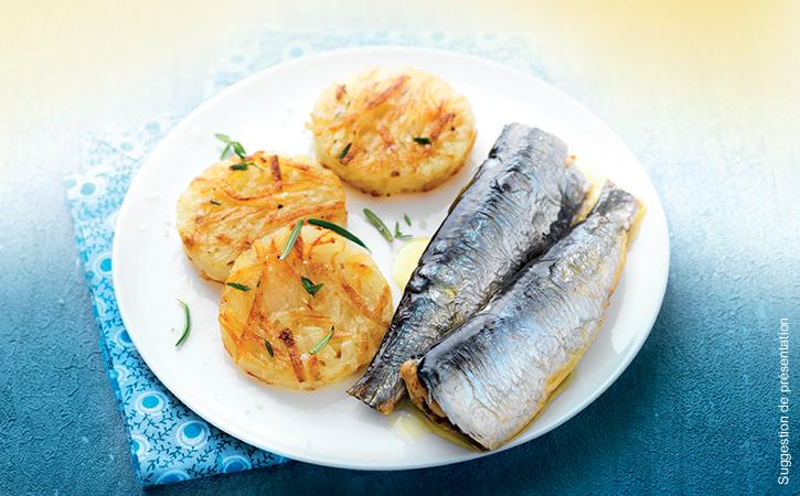Assortiment de 5 sardines cuisinées à déguster chaud