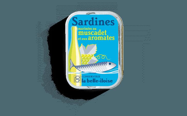 Sardines marinées au muscadet et aux aromates - Conserverie la belle-iloise