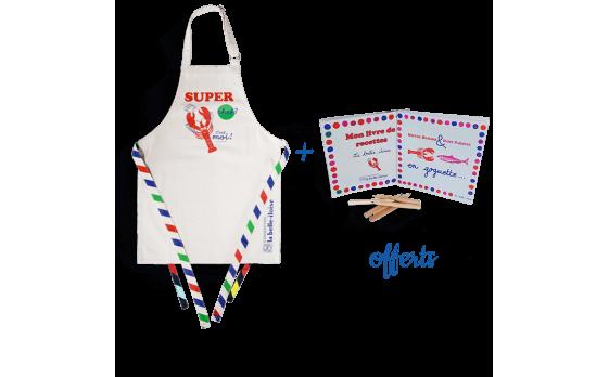 """Le tablier enfant """"Super Chef"""" en coton bio"""