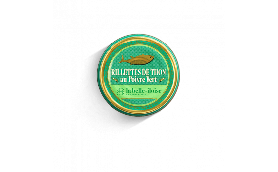 Tuna rillettes with green peppercorns - 3 tins of 60g