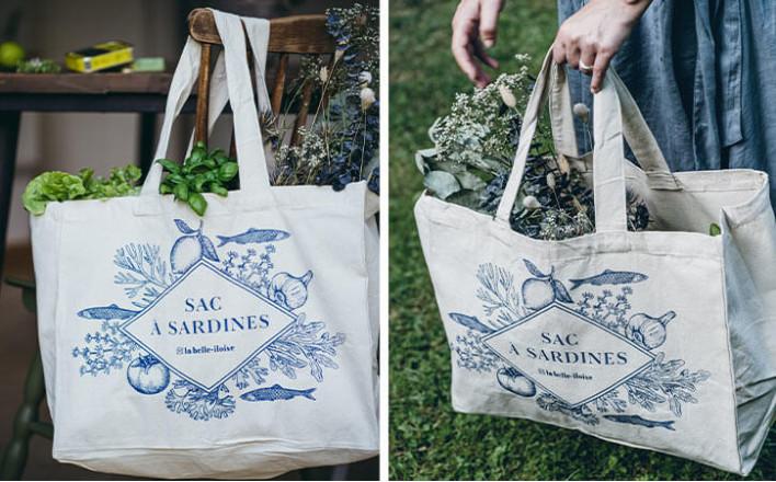 Sardines organic cotton bag - La Belle Iloise