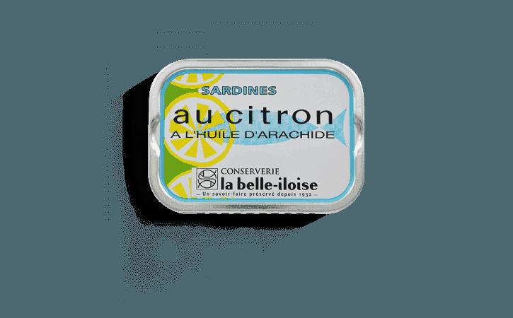 Sardines au citron et à l'huile d'arachide - Conserverie la belle-iloise