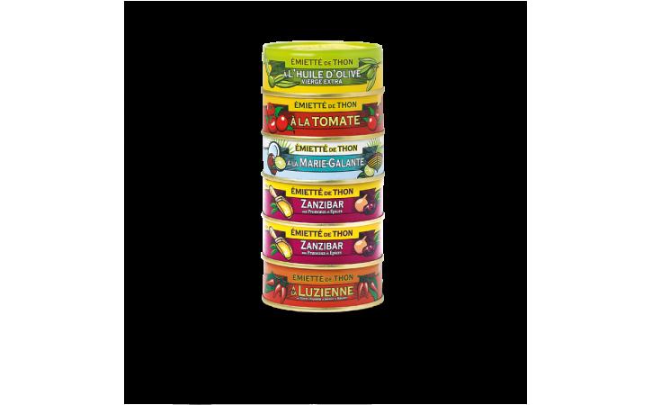 Assortiment de 6 émiettés de thon - Conserverie la belle-iloise
