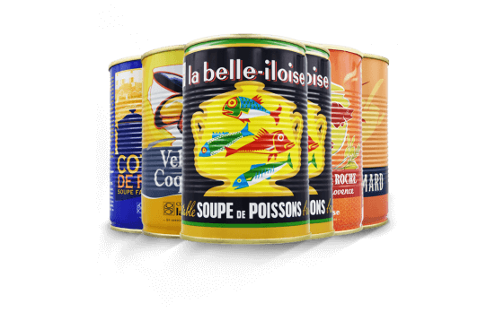 Assortiment de soupes de poissons 1/2