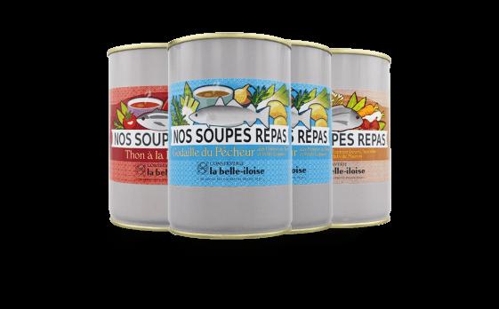 Assortiment de soupes repas - Conserverie la belle-iloise