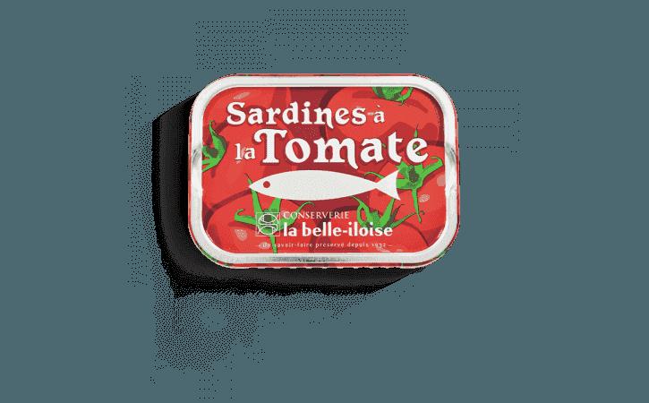 Sardines à l'huile de tournesol et à la tomate