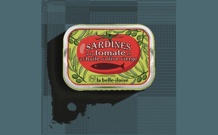 Sardines à l'huile d'olive et à la tomate - Conserverie la belle-iloise