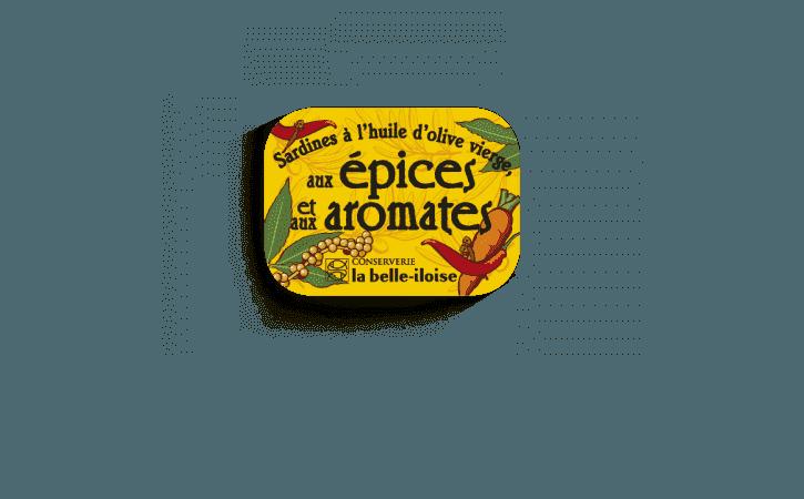 Boîte à Sardines épices et aromates-Conserverie la belle-iloise