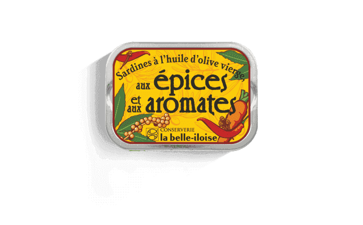 Sardines à l'huile d'olive, aux épices et aux aromates - Conserverie la belle-iloise