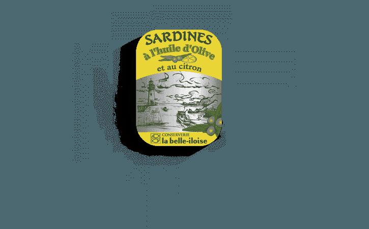 Boîte à Sardines à l'huile d'olive et citron-Conserverie la belle-iloise