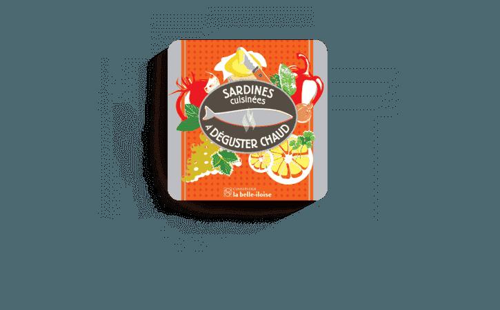 Boîte à Sardines à déguster chaud-Conserverie la belle-iloise