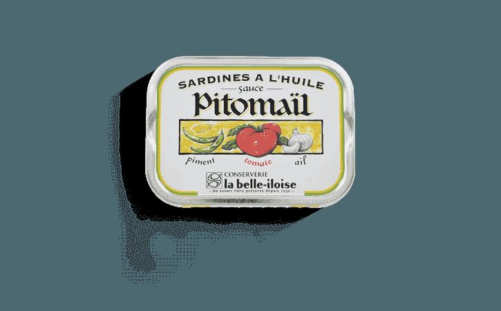 Sardines à l'huile, sauce Pitomaïl - Conserverie la belle-iloise