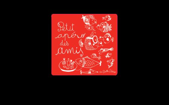 Boite rouge ''Petit apéro des amis''-Conserverie la belle-iloise