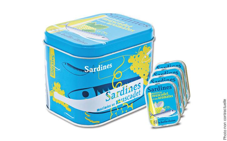 Boîte à Sardines marinées au muscadet-Conserverie la belle-iloise