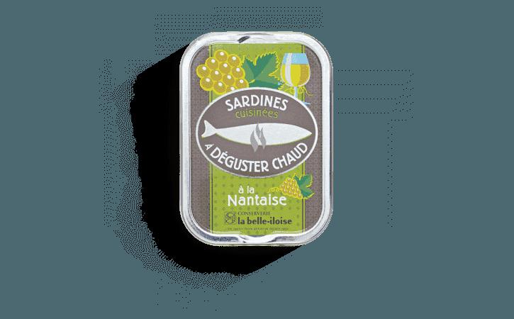 Sardines cuisinées à déguster chaud à la Nantaise - Conserverie la belle-iloise
