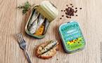 Sardines à l'huile d'olive, thym citron et poivre Timut