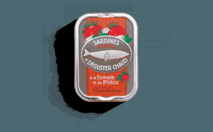 Sardines chaudes à la tomate et au pistou - Conserverie la belle-iloise