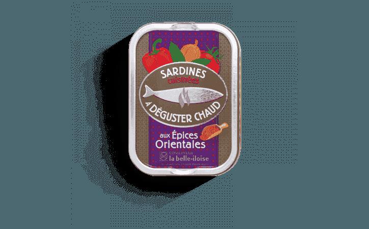 Sardines chaudes aux épices orientales - Conserverie la belle-iloise