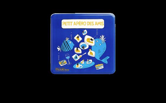 Boîte bleue ''Petit apéro des amis''