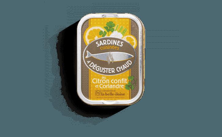 Sardines chaudes au citron confit et coriandre - Conserverie la belle-iloise