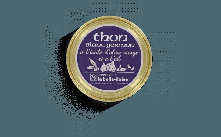 Thon blanc germon à l'huile d'olive et à l'ail - Conserverie la belle-iloise