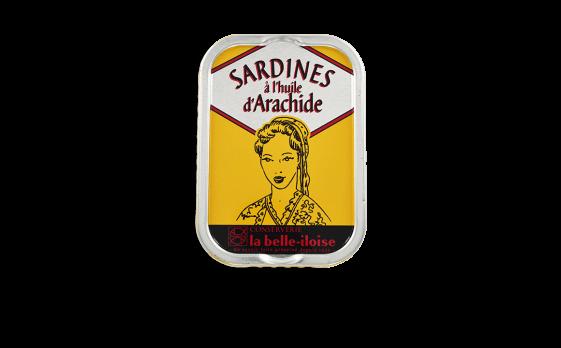 Sardines à l'huile d'arachide - 5 boîtes de 115g