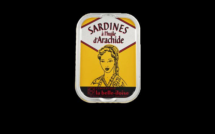 Sardines à l'huile d'arachide - 5 boîtes de 115g - La Belle Iloise