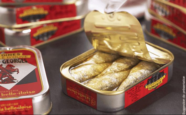 Sardines Saint-Georges à l'huile d'olive - 5 boîtes de 115g - La Belle Iloise
