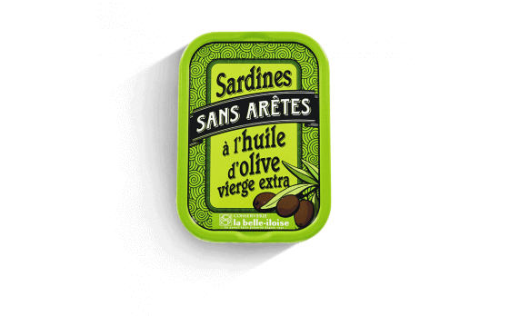 Boneless sardines in olive oil - 5 tins of 115g ea.