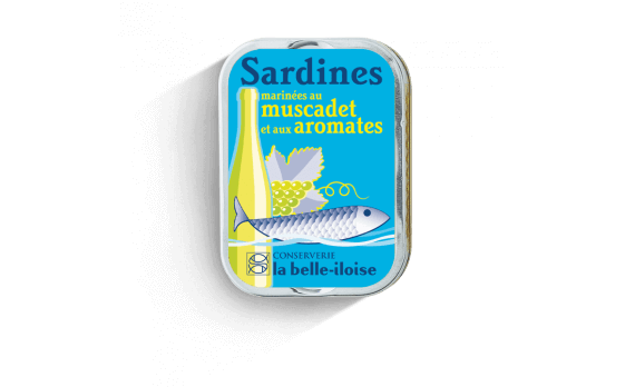 Sardines marinated with Muscadet and aromatic flavourings - 5 tins...
