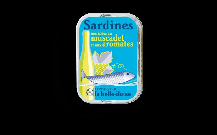 Sardines marinées au muscadet et aux aromates - 5 boîtes de 115g - La Belle Iloise