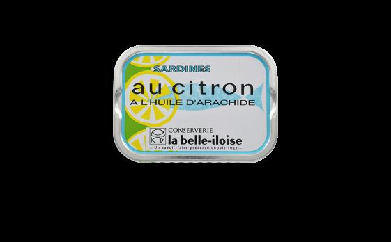 Sardines au citron et à l'huile d'arachide