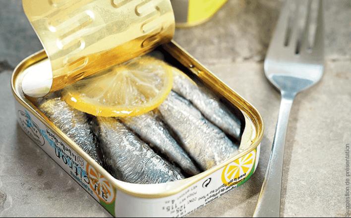 Sardines au citron et à l'huile d'arachide - 5 boîtes de 115g - La Belle Iloise