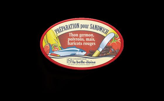 Préparation pour sandwich thon germon, maïs, haricots rouges - Conserverie la belle-iloise