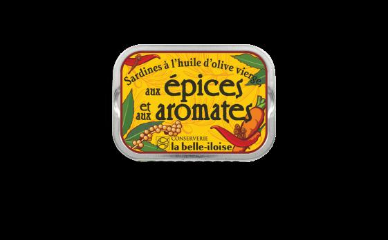 Sardines à l'huile d'olive, aux épices et aux aromates