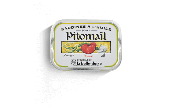 Sardines in oil, Pitomaïl sauce - 5 tins of 115g ea.