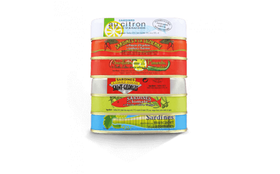 """Ouessant"" Assortment - 6 varieties of sardines of 115g ea."