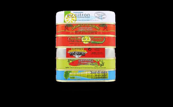Assortiment Ouessant - 6 variétés de sardines 1/6