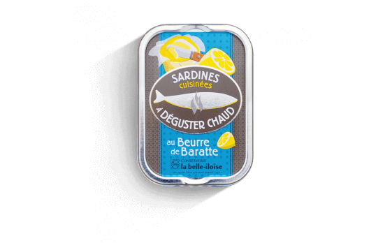 Sardines cooked with churned butter to be served hot - 3 tins of...